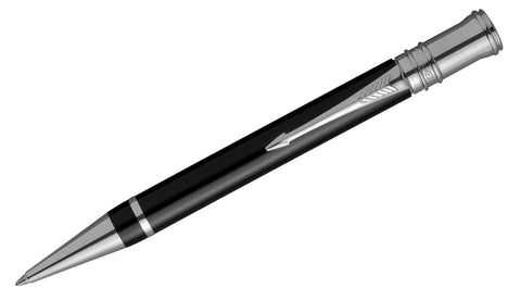 Duofold International Black with Chrome Trim Ballpoint Pen
