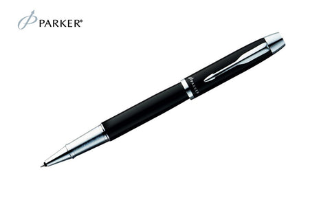 IM - Black Chrome Trim Rollerball Pen