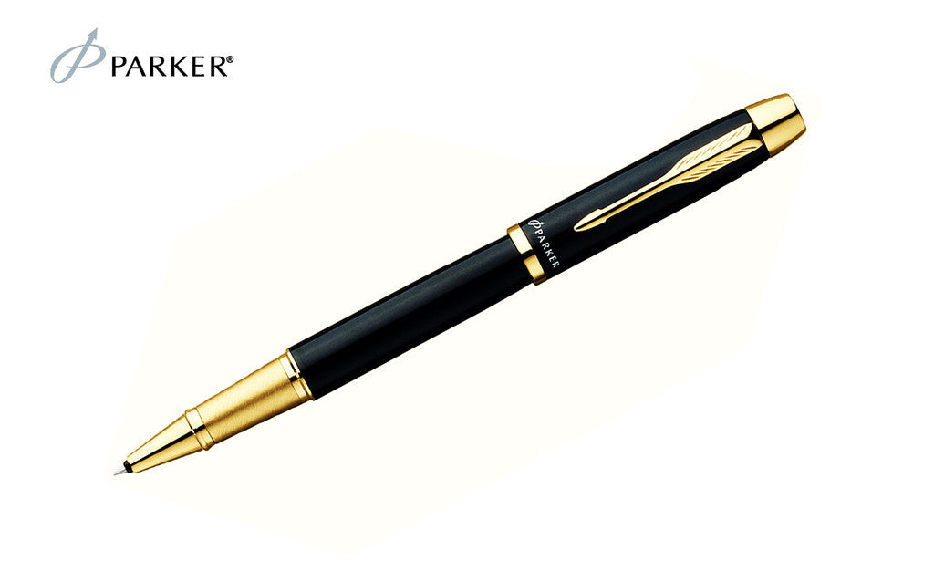 IM - Black Gold Trim Rollerball Pen