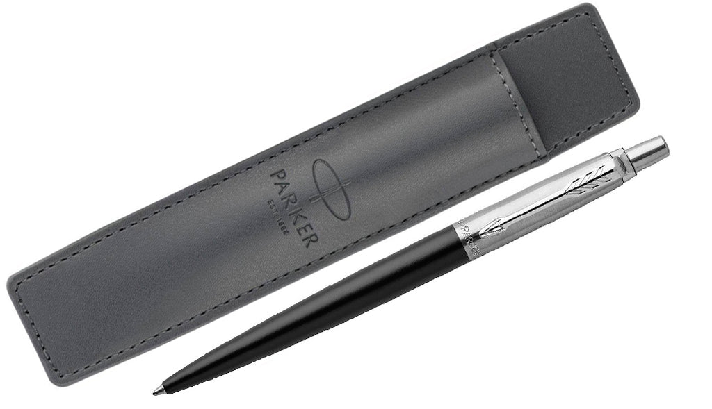 Jotter - Bond Street Black Ballpoint Pen + Pouch Set