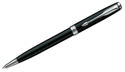 Sonnet - Black Lacquer Chrome Trim Ballpoint Pen