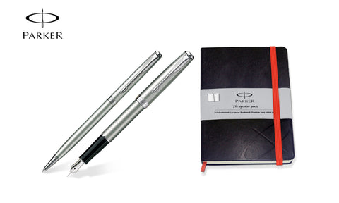 Parker Sonnet Steel CT Fountain & Ballpoint Pen Set