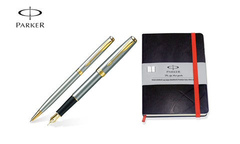 Parker Sonnet Steel GT Fountain & Ballpoint Pen Set