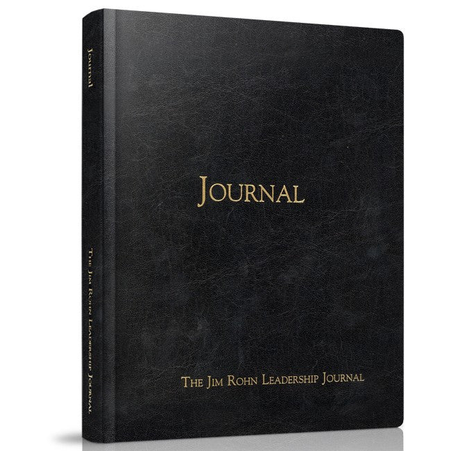 The Jim Rohn Leather Bound Leadership Journal