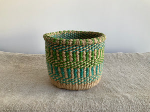 Striped Woven Basket