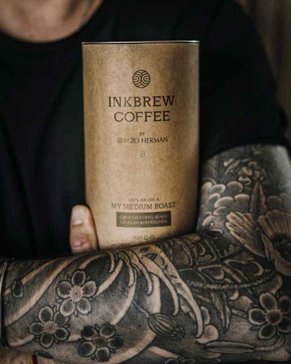 Inkbrew Medium Roast Coffee by Sergio Herman (250gr bonen)