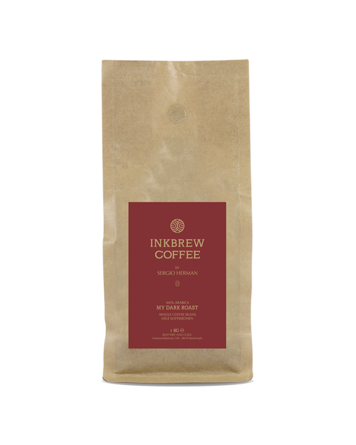 Inkbrew Dark Roast Coffee by Sergio Herman (1KG bonen)