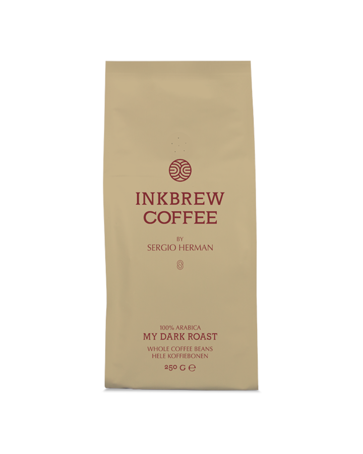 Inkbrew Dark Roast Coffee by Sergio Herman (250gr bonen)