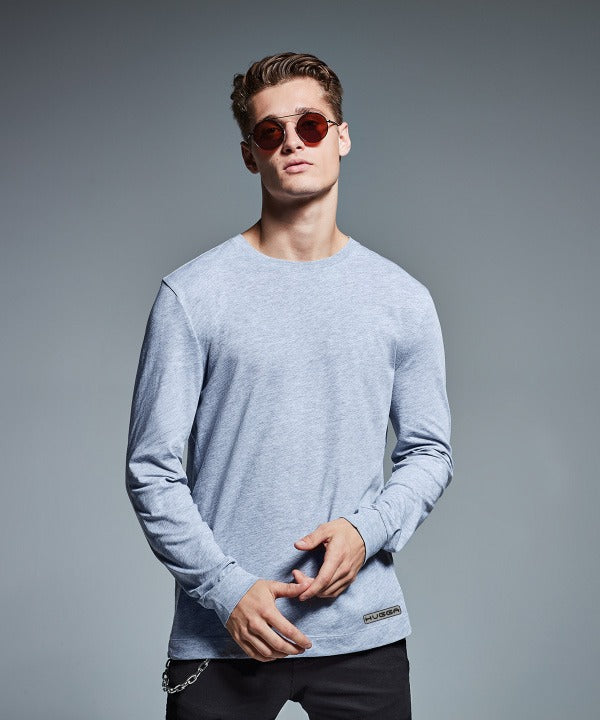 011AM Men's long sleeve Organic Recycled t-shirt