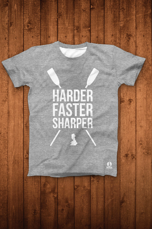 HARDER FASTER SHARPER TEE (HEATHER GREY)