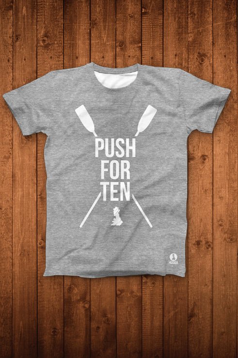 PUSH FOR TEN TEE (GREY HEATHER)