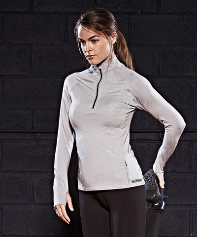 035JC Women's Cool Flex long half-zip top