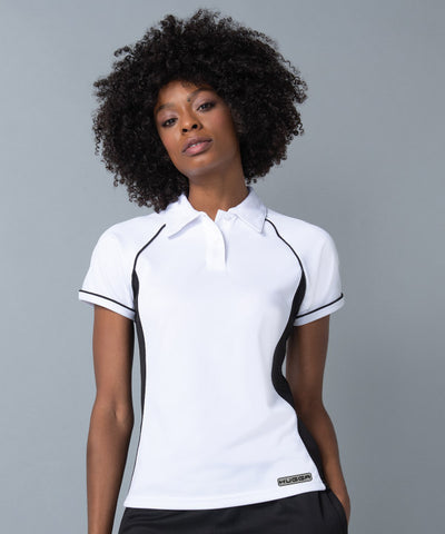 371LV Women's piped performance polo
