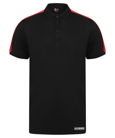 381LV Contrast panel Womens polo