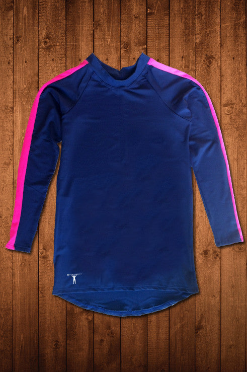 TwRC LS COMPRESSION TOP (DARK BLUE) - HUGGA Rowing Kit