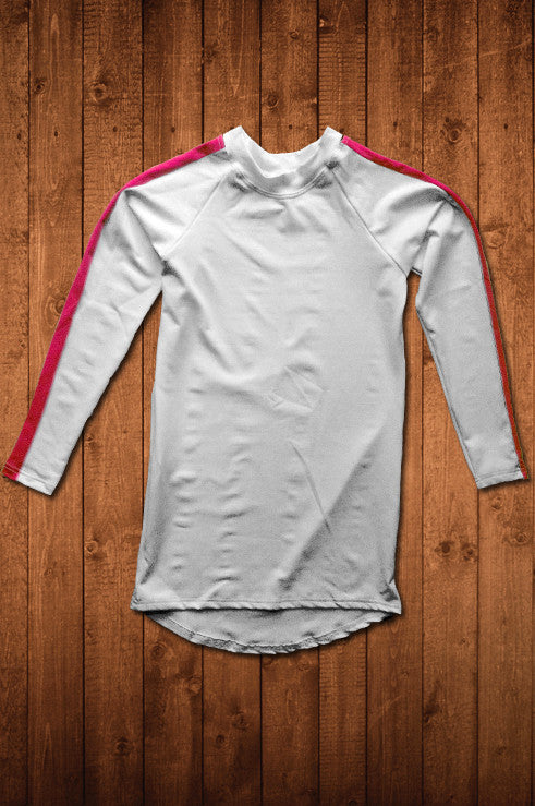 TwRC LS COMPRESSION TOP (WHITE) - HUGGA Rowing Kit