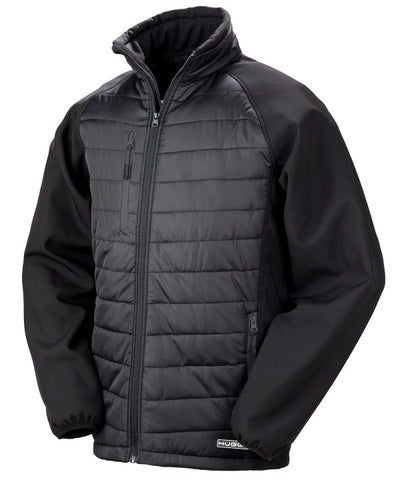 237RX Black compass padded softshell jacket