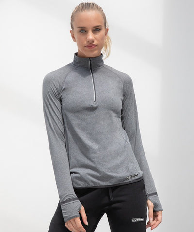 563TL Women's long-sleeved ¼ zip top