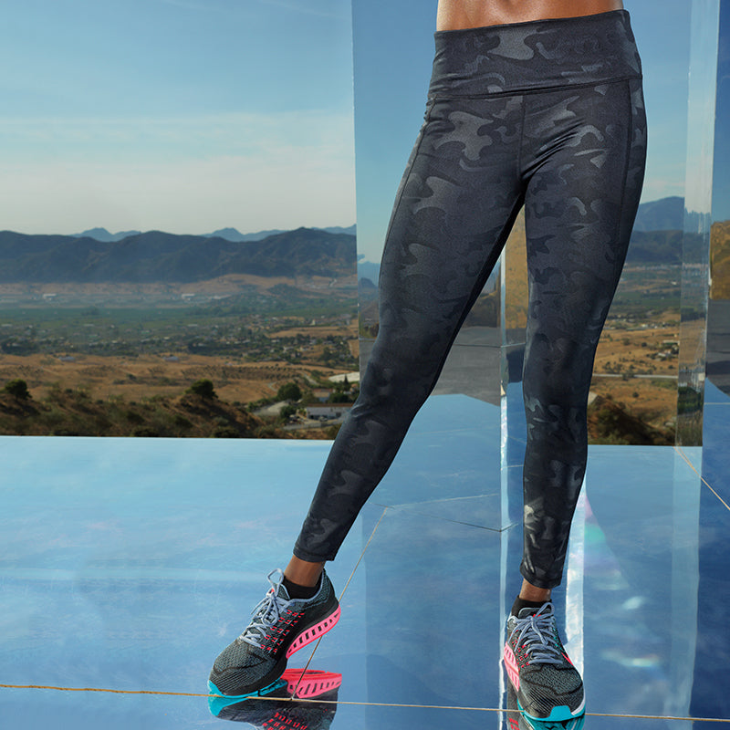 038 Performance camo leggings full-length