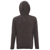 071 Melange knit fleece jacket