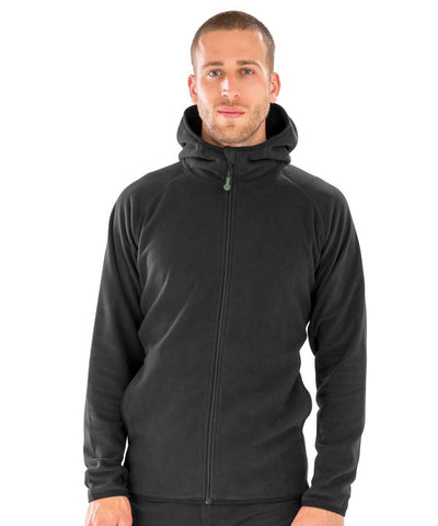 906RX Recycled hooded microfleece jacket