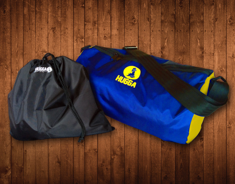 ROYAL & YELLOW HUGGA HOLDALL, WITH FREE WET KIT BAG - HUGGA Rowing Kit - 1