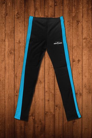 HUGGA COMPRESSION LEGGINGS - BLACK & ROYAL BLUE