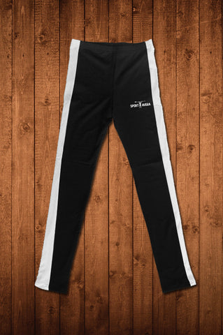 HUGGA COMPRESSION LEGGINGS - BLACK & WHITE
