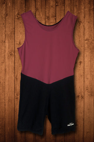 HUGGA ELITE ROWING SUIT - MAROON & BLACK
