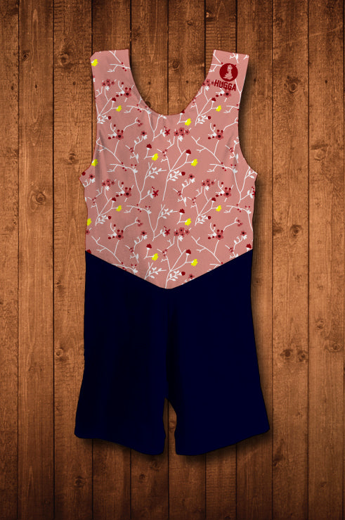 HUGGA BOTANIC-FLOW PINK ROWING SUIT