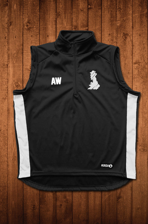 HUGGA GILET - BLACK & WHITE - HUGGA Rowing Kit
