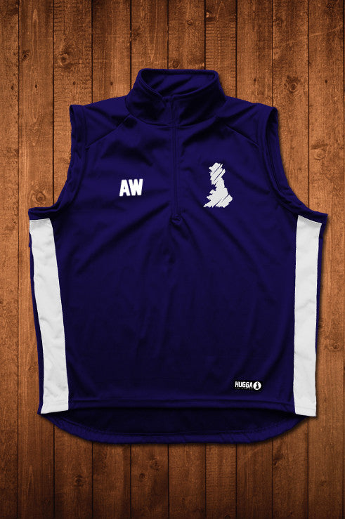 HUGGA GILET - NAVY & WHITE - HUGGA Rowing Kit