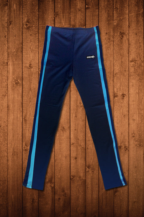 Star Club Leggings Blue - HUGGA Rowing Kit