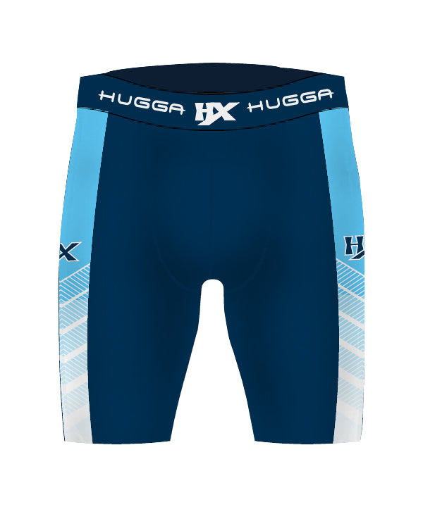 CONTRAST CHEVRON COMPRESSION SHORTS