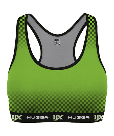 HX CHEQUERED SPORTS BRA