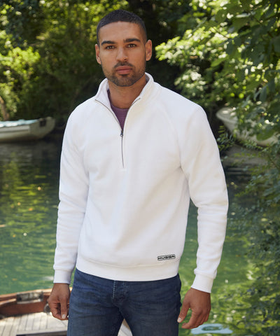 830SS Premium 70/30 zip-neck sweatshirt
