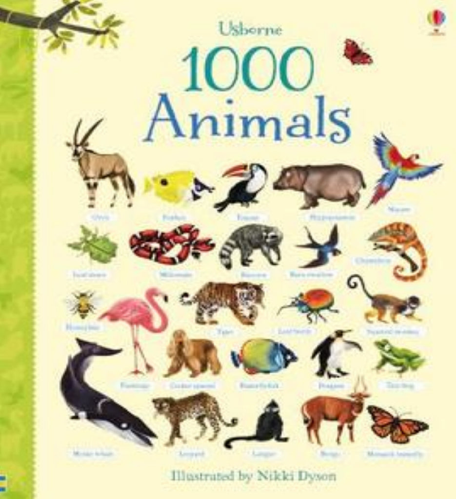 Usborne 1000 Animals (Hardback)