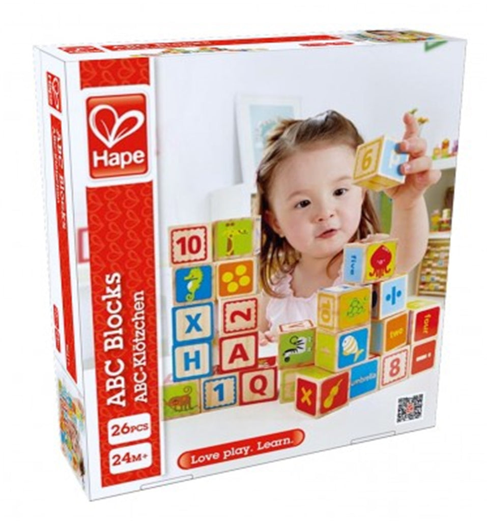 HAPE Wooden ABC Blocks (26 pieces)