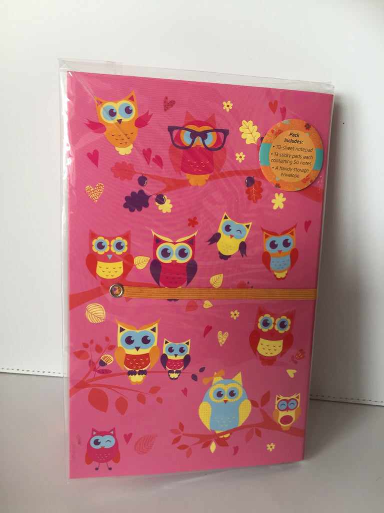 Owl stationery set