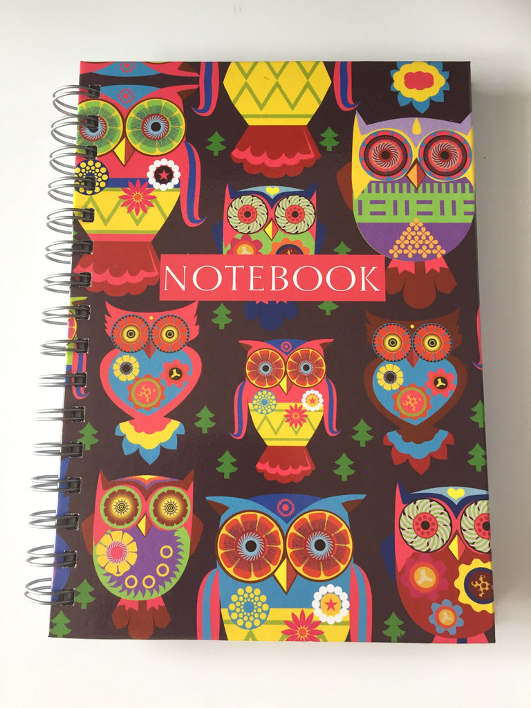 A5 Owl Print Notebook