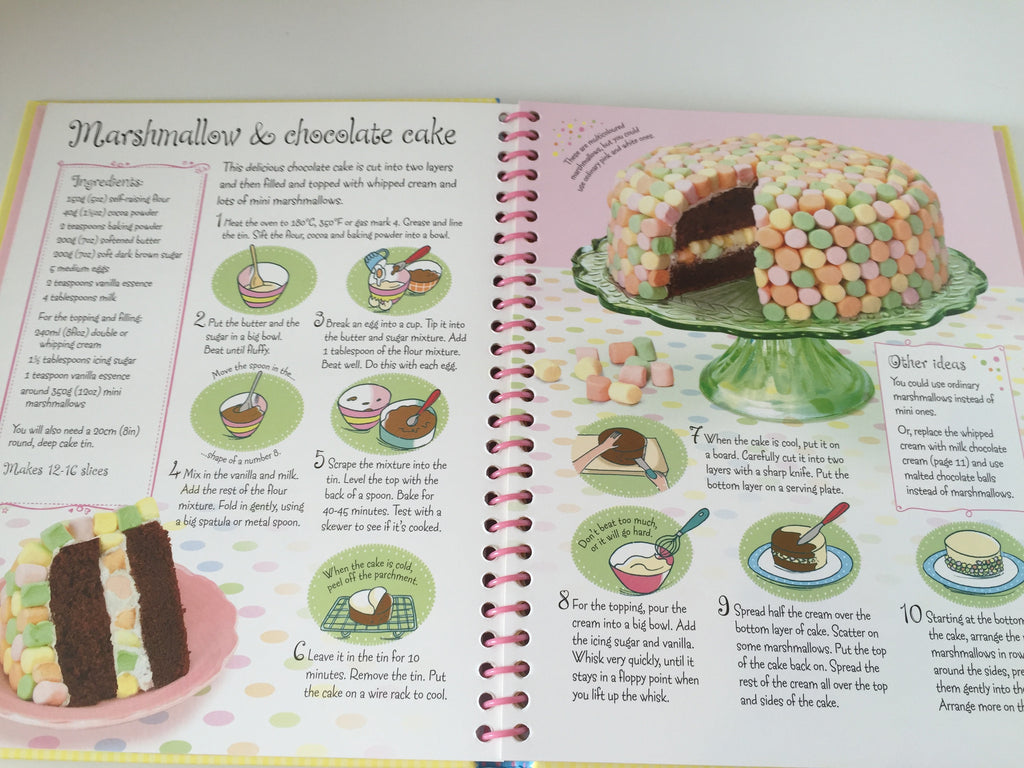 Usborne Party Cakes to Bake & Decorate (Spiral Bound)