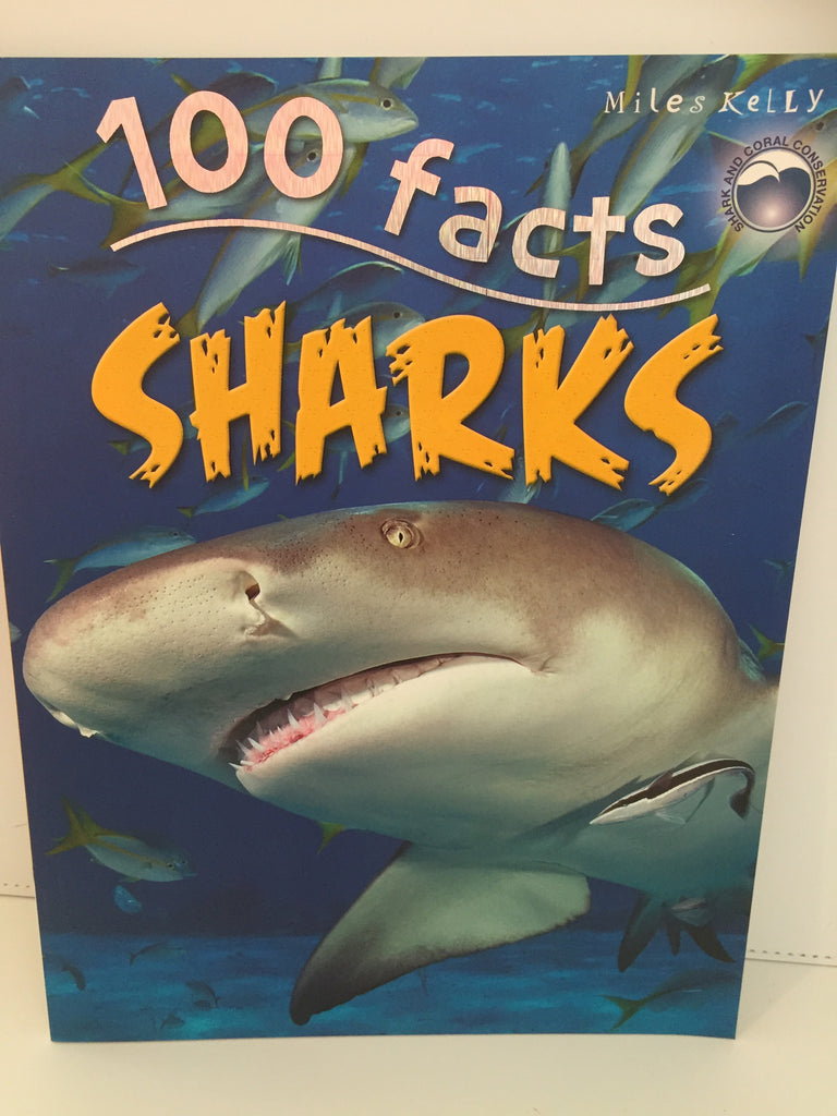 100 Facts Sharks (Paperback)