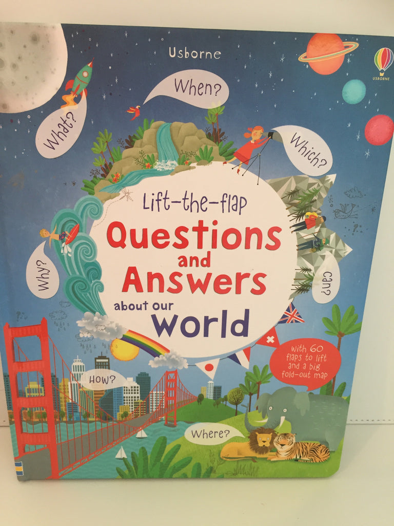 Lift-the-flap Questions and Answers about the World