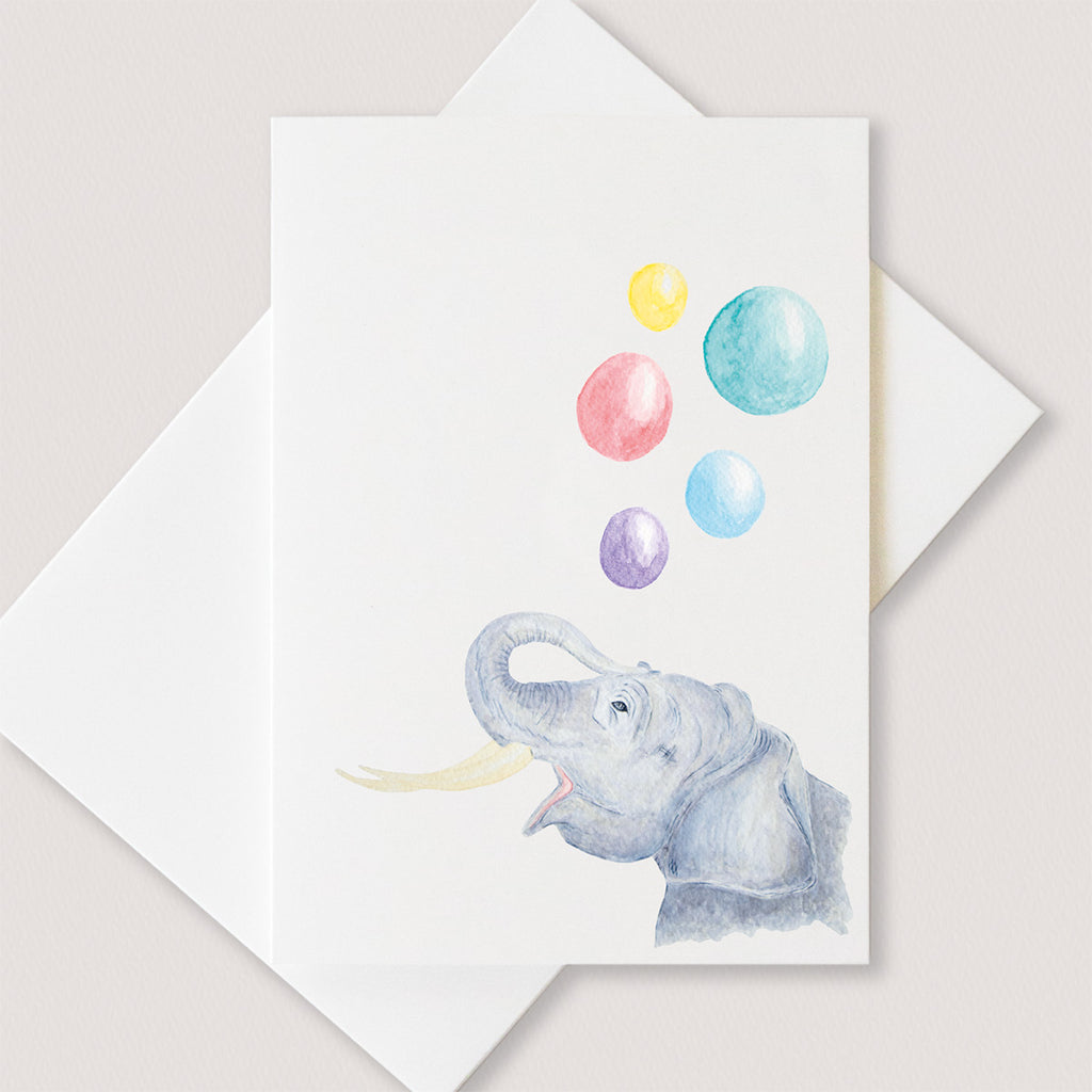 Blowing Bubbles Card