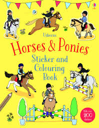 Horses and Ponies Sticker and Colouring Book
