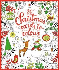 20 Christmas Cards To Colour (Usborne)