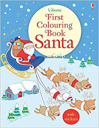 Usborne First Colouring Book : Santa