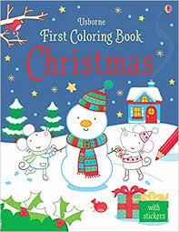 Usborne First Colouring Book : Christmas