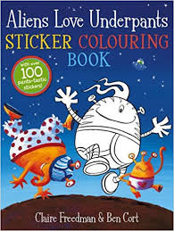 Aliens Love Underpants Sticker and Colouring Book