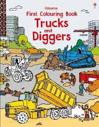 Usborne First Colouring Book Trucks and Diggers